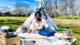 black woman on a picnic