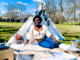 black woman on a picnic